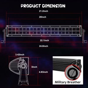 20'' 120W RGB Light Bar