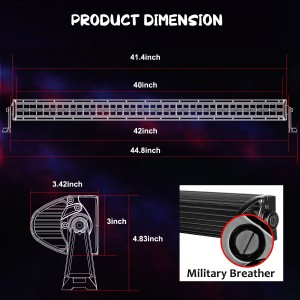 42'' 240W RGB Light Bar