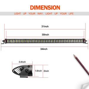 30'' 240W Super Slim LED Light Bar
