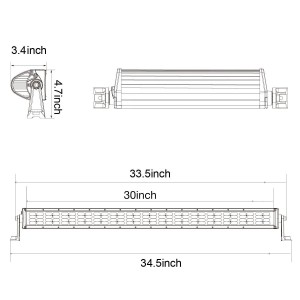 30'' 480W Combo LED Light Bar