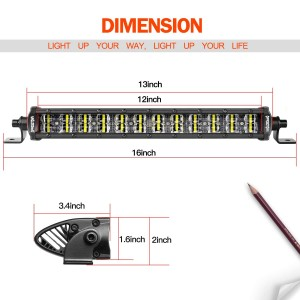 12'' 96W Super Slim LED Light Bar
