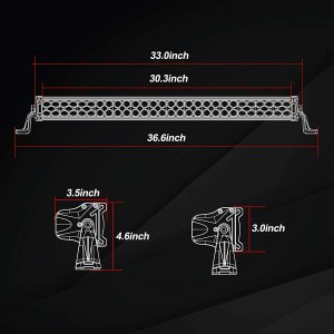 30'' 490W LED Light Bar with Wiring Harness and Black Cover