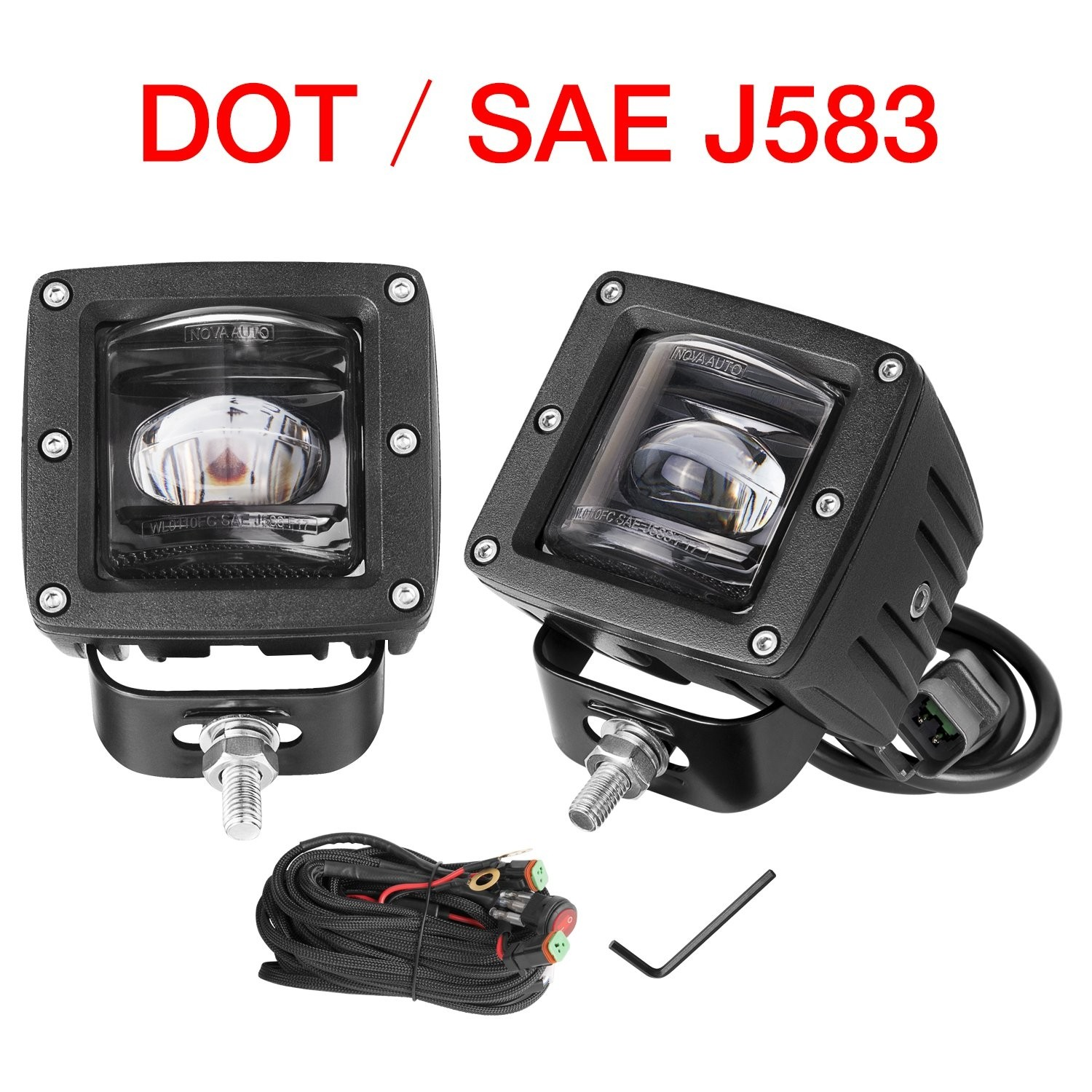 2pcs 3'' 48W SAE Fog Lights