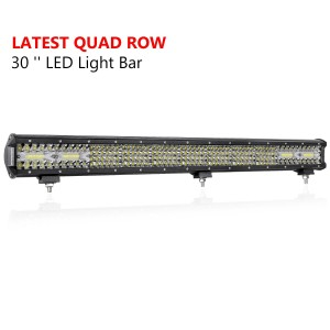 30'' 496W Quad Row Light Bar