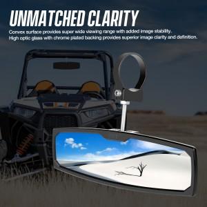 UTV RearView Mirror, OFFROADTOWN 12'' RZR Rear View Center Mirror With 3/4 1.75