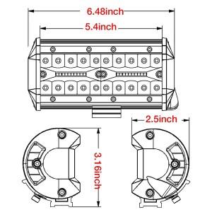 2pcs 7'' 240W Combo LED Lights