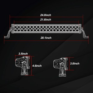 20'' 320W LED Light Bar with Wiring Harness and Black Cover
