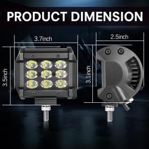 OFFROADTOWN LED Pods, 4inch 54W LED Work Light Bar with Wiring Harness LED Cubes Spot Beam Off Road Fog Lights LED Driving Lights for Trucks ATV UTV SUV Boat