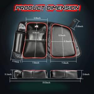 RZR Rear Door Bags, OFFROADTOWN RZR Side Door Bags Storage Bag with Knee Pad for 2014-2019 Polaris RZR XP4 1000 4 Door, 4 900 4 Door, 4 Door Turbo