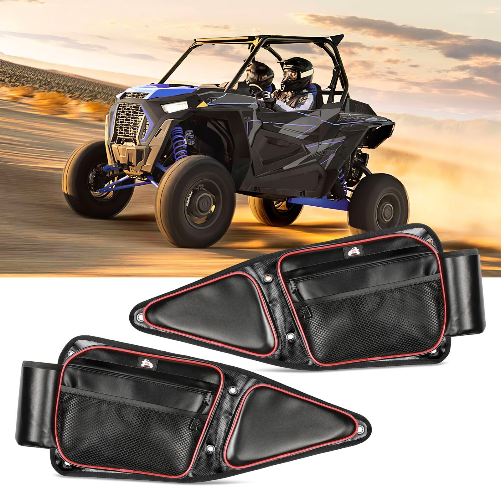 RZR Side Door Bags, OFFROADTOWN RZR Front Door Side Storage Bag with Knee Pad for 2014-2019 Polaris RZR XP Turbo 1000 900XC S900 570