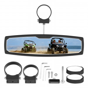 """UTV RearView Mirror, OFFROADTOWN 12'' RZR Rear View Center Mirror With 3/4 1.75"""" or 2"""" Clamps Compatible with Polaris RZR, Honda Pioneer&Turbo, Can Am Commander Maverick, Kawasaki, Arctic Cat Wildcat"""