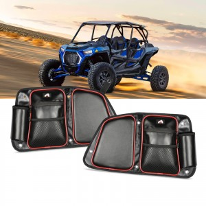 RZR Rear Door Bags, OFFROADTOWN RZR Side Door Bags Storage Bag with Knee Pad for 2014-2019 Polaris RZR XP4 1000 4 Door, 4 900 4 Door, 4 Door Turbo